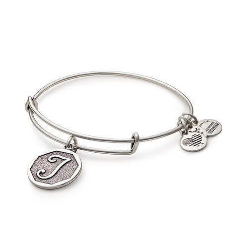 Alex and Ani Rafaelian Silver Initial T Charm Bangle - A13EB14TS