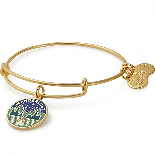 Alex and Ani Rafaelian Shiny Gold 'Wanderlust' Charm Bangle - A17EBWAP04SG
