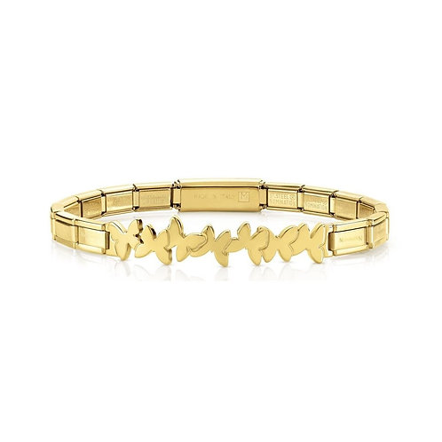 Nomination Trendsetter Butterflies Symbol Yellow Gold Bracelet 021111/003
