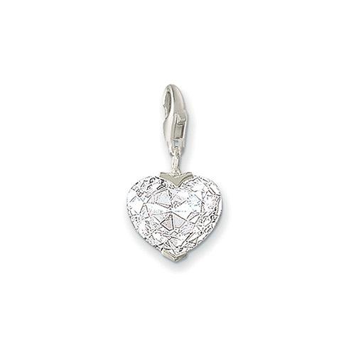 Thomas Sabo Silver CZ Heart Charm - 0008-051-14