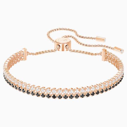 SWAROVSKI Subtle Bracelet in Rose Gold Tone with Clear/Black Crystal - 5352092