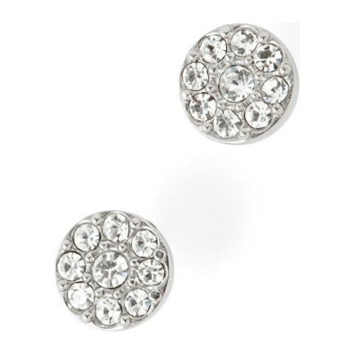 Fossil Stainless Steel CZ Disc Earrings