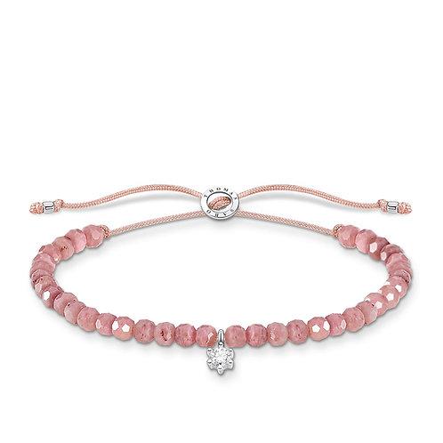Thomas Sabo Pink Jasper Bead Bracelet - A1987-401-9-L20v