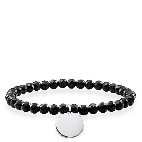 Thomas Sabo Love Bridge Black Obsidian Bracelet - LBA0113-840-11