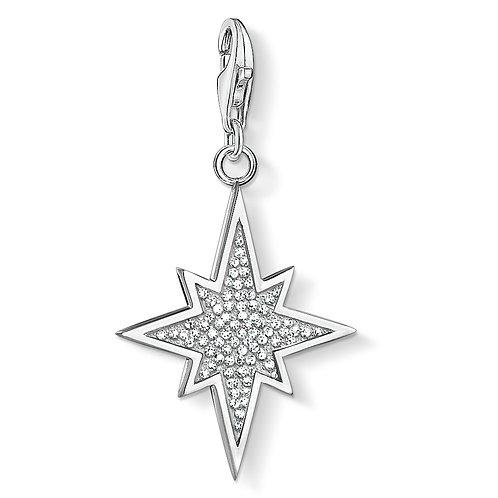 Thomas Sabo Silver Sparkling  Star Charm - 1540-051-14