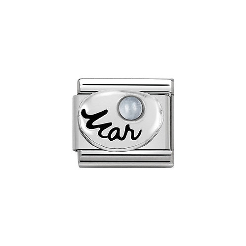 Nomination Silvershine March Birthstone Charm Link - 330505/03