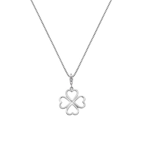 Hot Diamonds Sterling Silver Lucky in Love Necklace - DP768