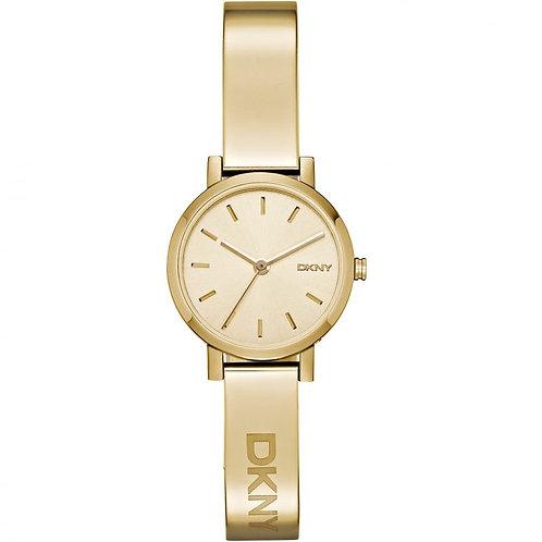 DKNY Ladies Gold Tone Soho Round Watch - NY2307