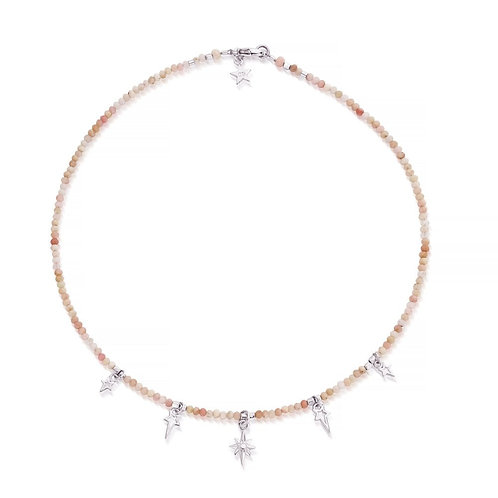 ChloBo Sterling Silver and Pink Opal Mystic Night Necklace - SNP0201