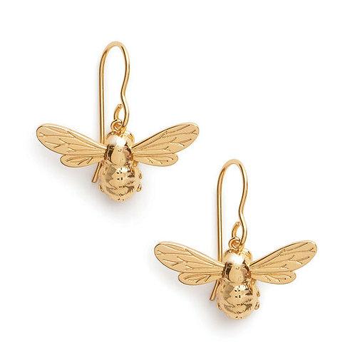 Olivia Burton Yellow Gold Lucky Bee Sleeper Dangle Earrings