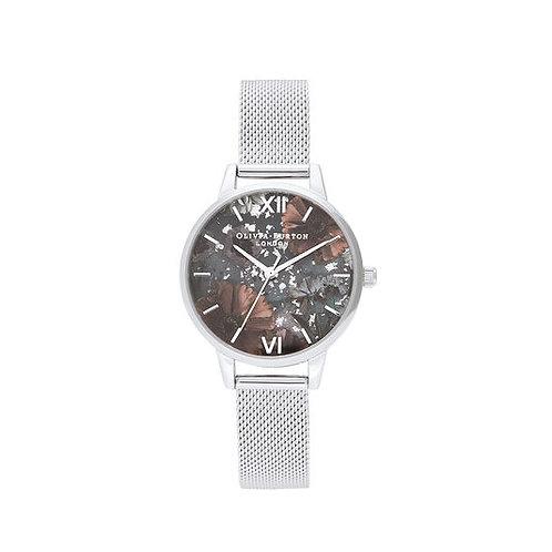 Olivia Burton Celestial Silver Mesh Bracelet Watch - OB16GD23
