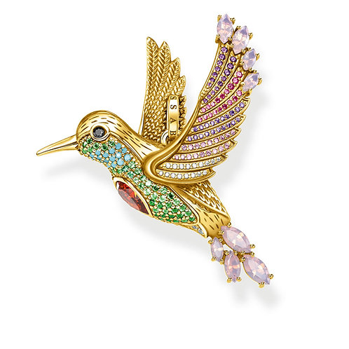 Thomas Sabo Colourful Hummingbird Pendant - PE875-488-7