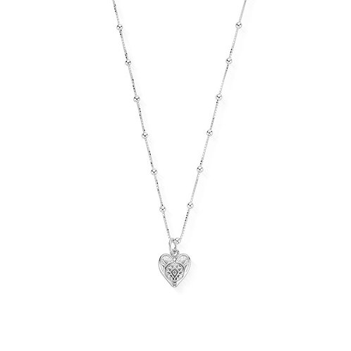 ChloBo Sterling Silver Bobble Chain Heart Necklace - SNBB691