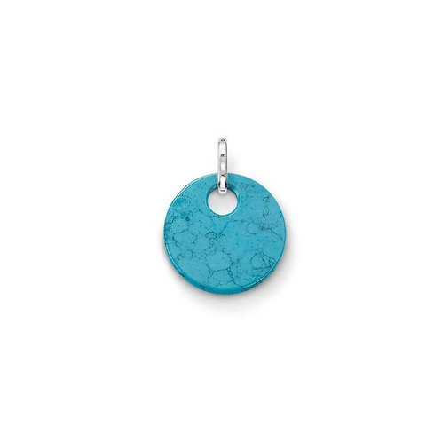 Thomas Sabo Silver and Turquoise Disc Pendant - PE428-404-17