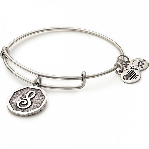 Alex and Ani Rafaelian Silver Initial S Charm Bangle - A13EB14SS