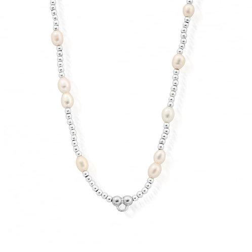 ChloBo Sterling Silver and Pearl Random Necklace - SNPRAN3
