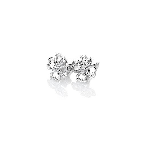 Hot Diamonds Sterling Silver Lucky in Love Earrings - DE632
