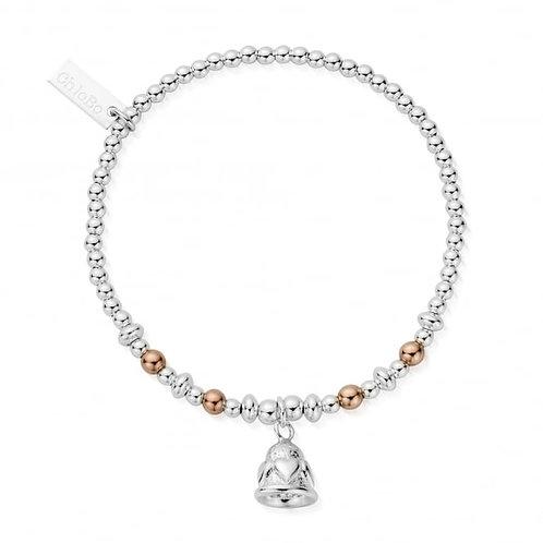 ChloBo Sterling Silver Chiming Hearts Bell Bracelet - MBWMO746