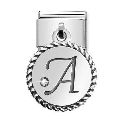 Nomination Silvershine Letter A Dangle Charm Link - 331809/01