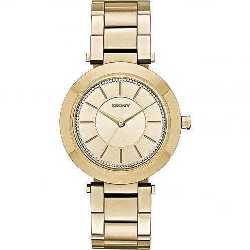 DKNY Ladies Gold Tone Stanhope Round Watch - NY2286
