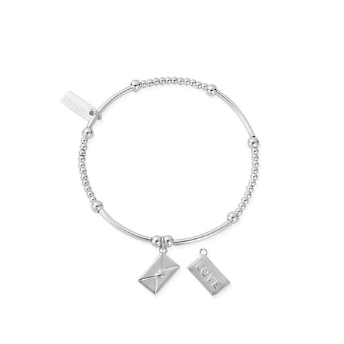 ChloBo Silver Cute Mini Love Letter Bracelet - SBCM2105
