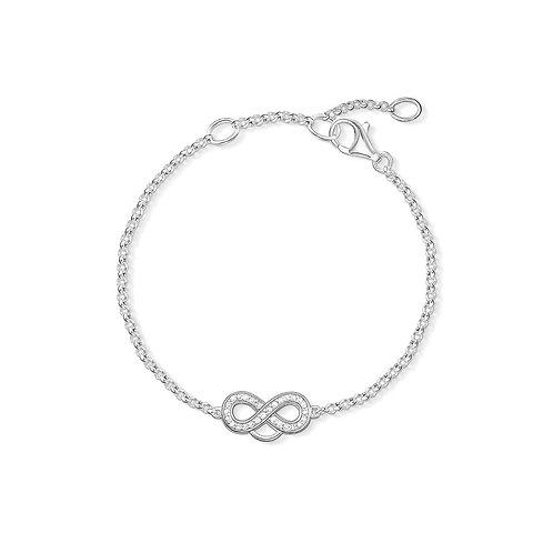 Thomas Sabo Silver Infinity CZ Charm Bracelet - X0203-051-14-L19,5