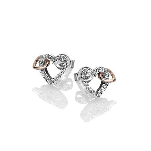 Hot Diamonds Sterling Silver Togetherness Open Heart Earrings - DE606