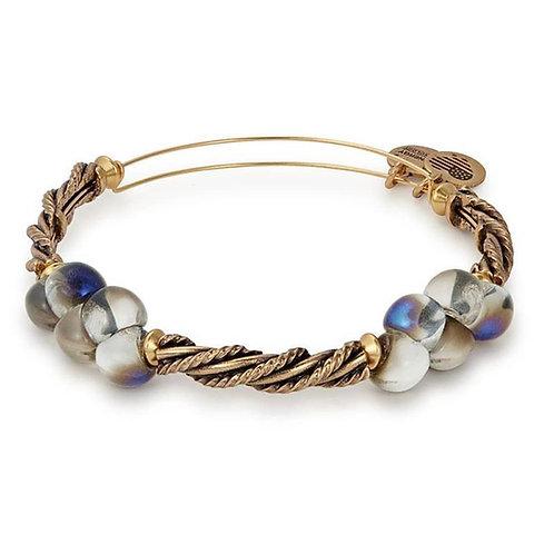 Alex and Ani Rafaelian Gold Blue Spirit Spiral Bangle -A17EBSPSDRG