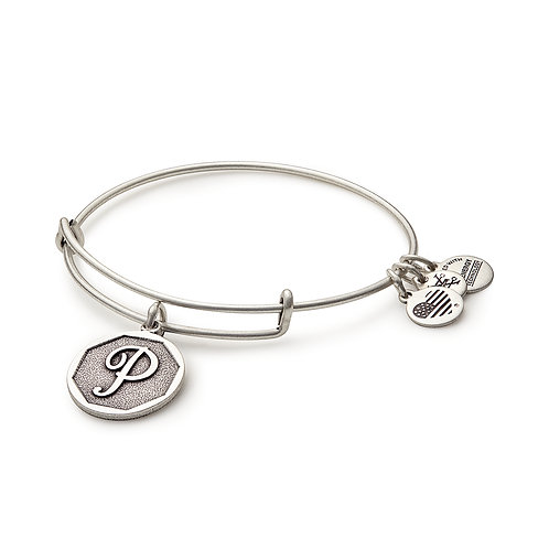 Alex and Ani Rafaelian Silver Initial P Charm Bangle - A13EB14PS
