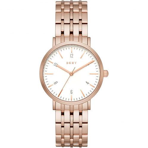 DKNY Ladies Rose Gold Tone Minetta Watch - NY2504