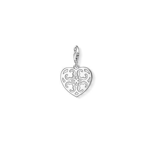 Thomas Sabo Silver Filigree Heart Charm - 1054-001-12