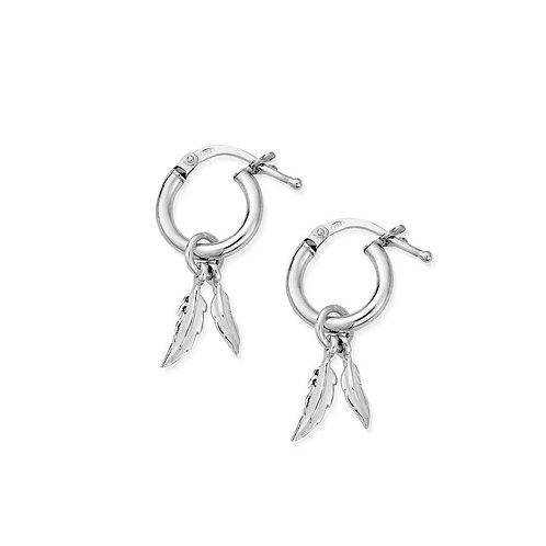 ChloBo Sterling Silver Double Feather Dangle Earrings - SEH584
