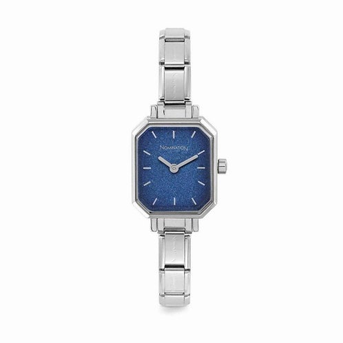 Nomination Composable Stainless Steel Blue Glitter Dial Watch - 076030/024