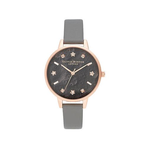 Olivia Burton Celestial London Vegan Grey Rose Gold Watch - OB16TZ0