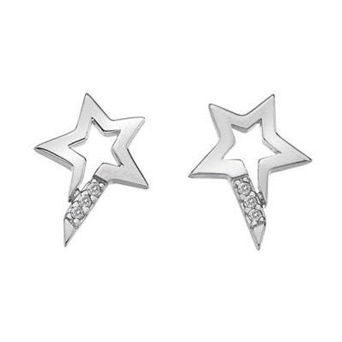 Hot Diamonds Sterling Silver Micro Star Earrings