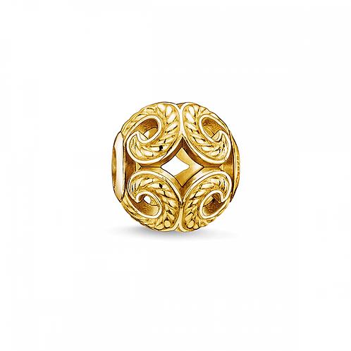 Thomas Sabo Karma Wave Yellow Gold Tone Bead Charm -K0051-413-12
