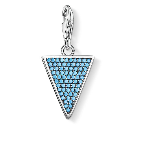 Thomas Sabo Silver Turquoise Triangle Charm - 1579-667-17