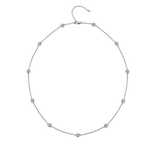 Hot Diamonds Sterling Silver Tender White Topaz Necklace