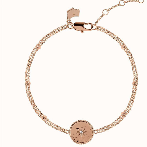 RADLEY Sterling Silver Rose Gold Plated Double Celestial Star Bracelet