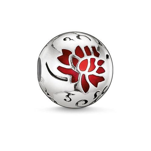 Thomas Sabo Karma Red Flower of Life Bead Charm - K0039-007-10