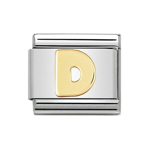 Nomination Gold Initial D Charm Link -030101/04