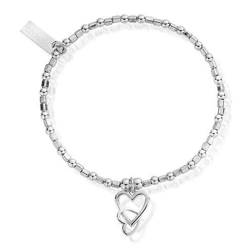 ChloBo Sterling Silver Mini Cube Interlocking Hearts Bracelet - SBCFB572