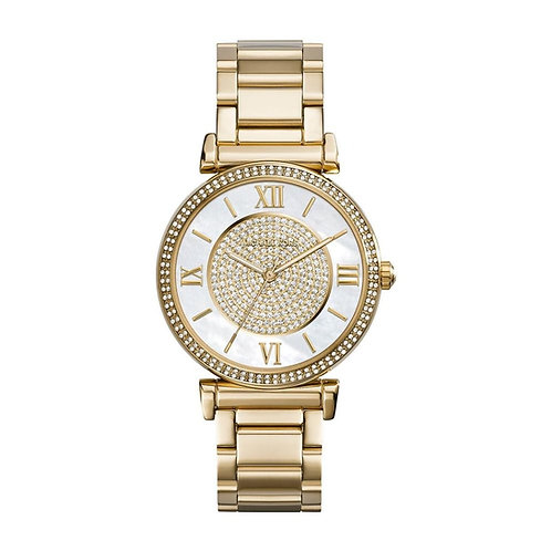 Michael Kors Gold Tone Caitlin Bracelet Strap Watch MK3332
