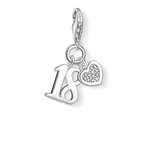 Thomas Sabo Silver and Diamonds 18TH Charm - DC0034-725-14