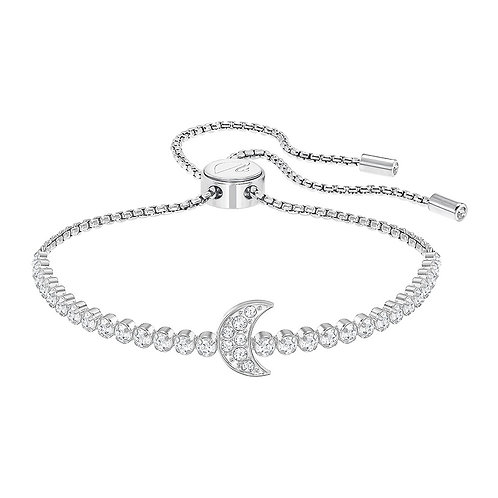 SWAROVSKI Subtle Moon Bracelet in Rhodium with Clear Crystal - 5349627