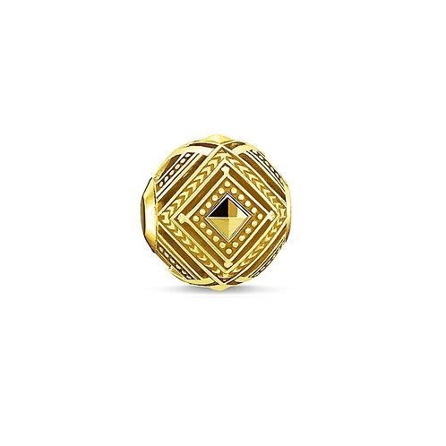 Thomas Sabo Karma Africa Yellow Gold Tone Bead Charm -K0248-413-39