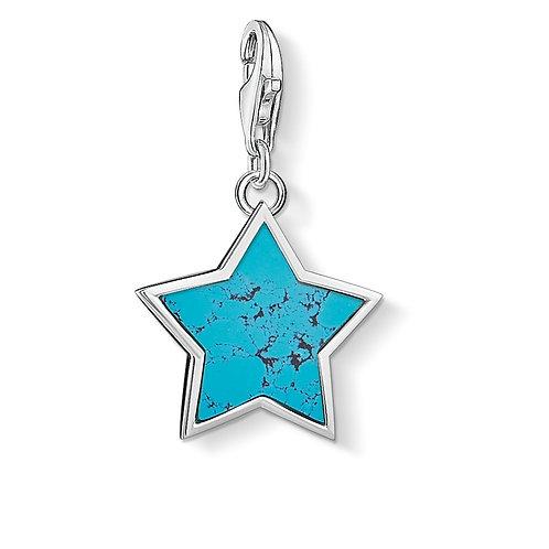 Thomas Sabo Small Silver Turquoise Star Charm - 1532-404-17