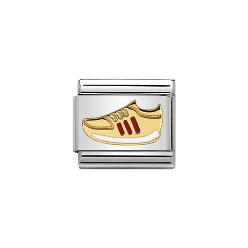 Nomination Classic Gold and Red Trainer/Sneaker Charm Link - 030242/33