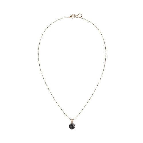 SWAROVSKI Black Crystal Lollipop Rose Gold Tone Pendant Necklace - 5416520