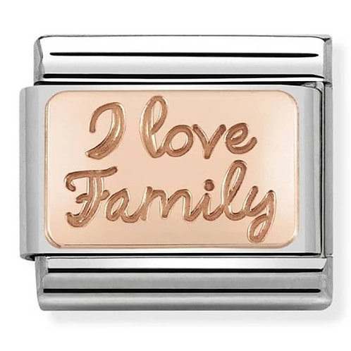 Nomination Rose Gold I Love Family Plates Charm Link - 430101/41